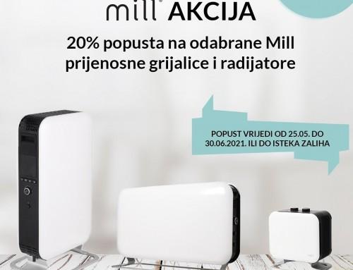 20% popusta na odabrane Mill prijenosne grijalice i radijatore