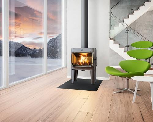 Jotul F 305 LL peć na drva - ambijent/dimovod gore - Kamin Studio
