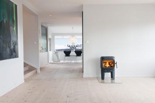 Jøtul 105 LL peć na drva - dimnjak iza